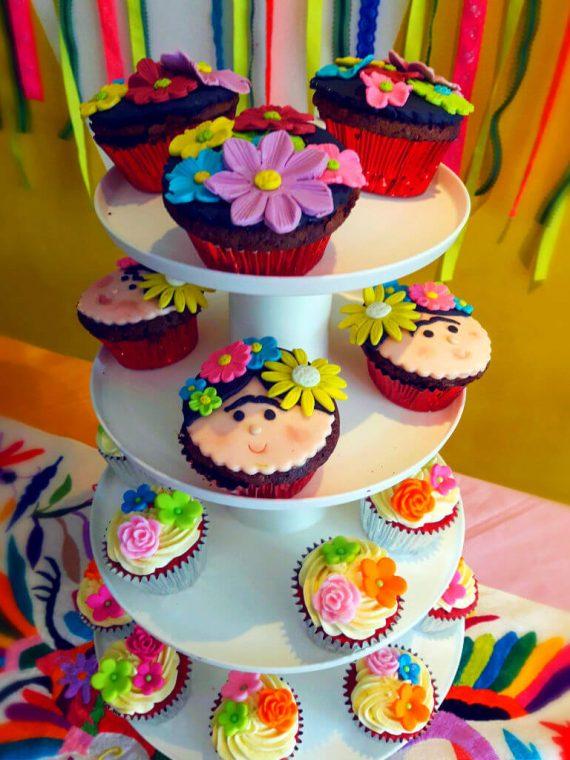 Cupcakes de Frida Kahlo