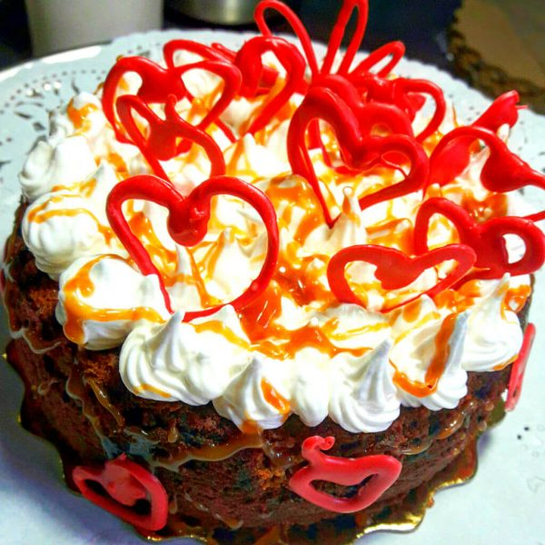 Torta Brownie con frosting